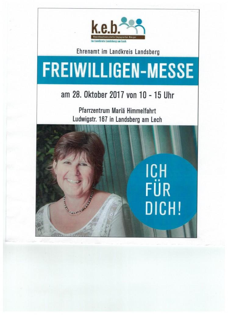 Plakat Freiwilligenmesse 28.10.2017