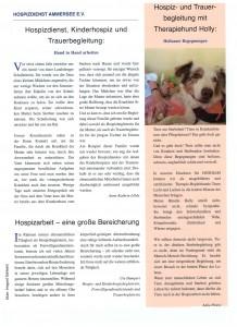 """Artikel in der Gemeindezeitung """"Bärig"""""""